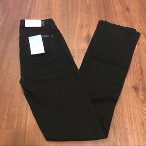 NWT 7 For All Mankind Blair Kimmie jeans 25 black
